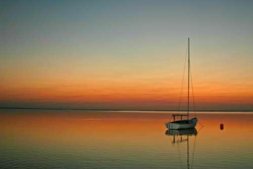 Sailboat Sailing Sunset Sailing Boat Sail