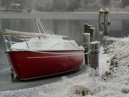 Sailboat Boat Winter