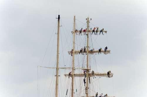 Sailing Masts Harlingen Wadden Sea Sailors