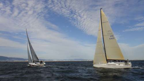 Sailing Yacht Yacht Racing Sea Wind Sail Sky