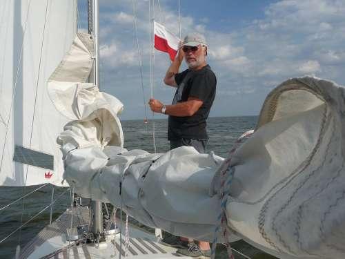 Sailing Boat Sail Polish Flag Flag Border Crossing
