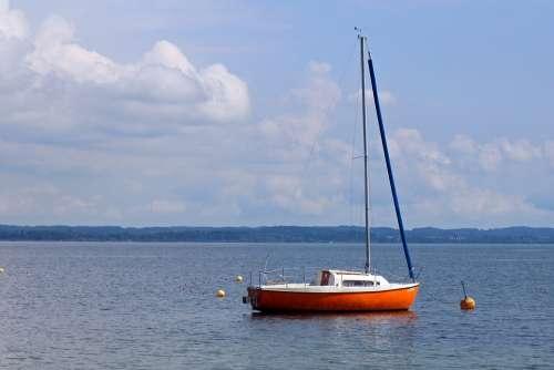 Sailing Boat Boat Individually Dock Anchorage Calm