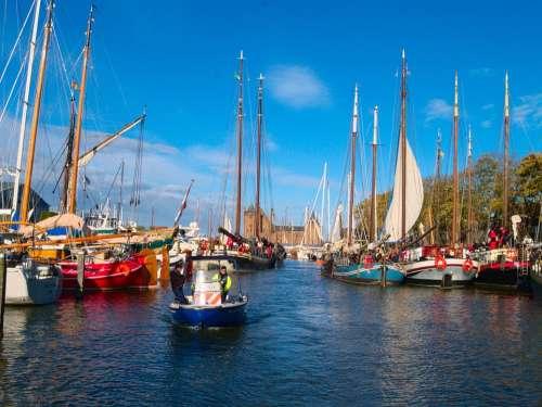 Sailing Boats Waterway Police Patrol Boat