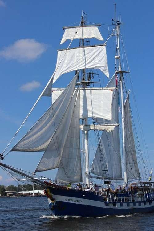 Sailing Vessel Historically Sail Ship Rostock