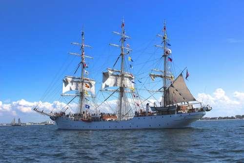 Sailing Vessel Sail Sea Ship Shipping Hanse Sail