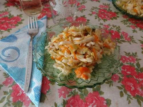 Salad Vegetables Vitamins Lunch Carrots Food Fork