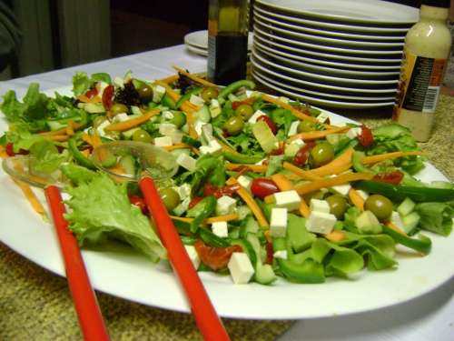 Salad Food Fresh Green Healthy Vegetable Tomato