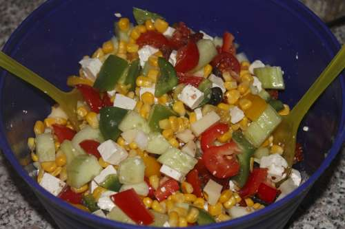 Salad Colorful Healthy Vitamins Food Nutrition