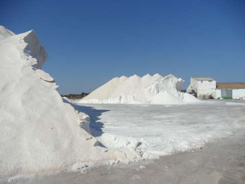 Salt Salzberg Salt Mountain White Salt Pans