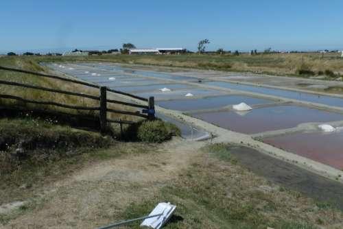 Salt Sea Evaporation Flat France Saline