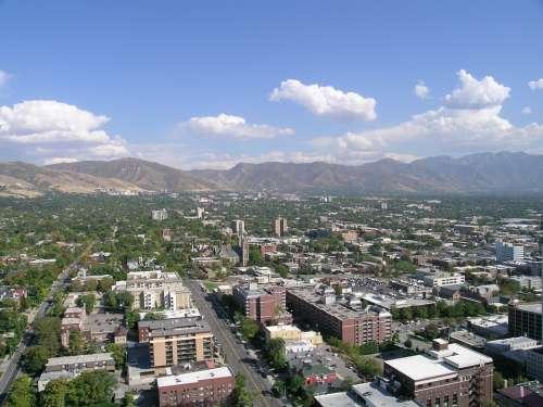Salt Lake City City Downtown Utah Urban Skyline