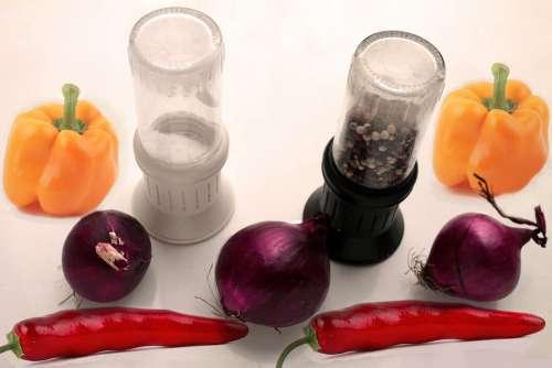Salt Mill Pepper Mill Paprika Chili Kitchen Cook