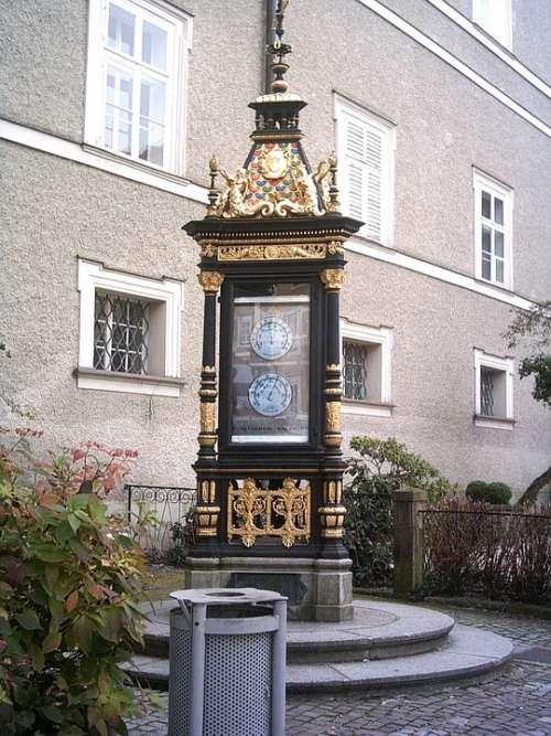 Salzburg Golden Thermometer Column