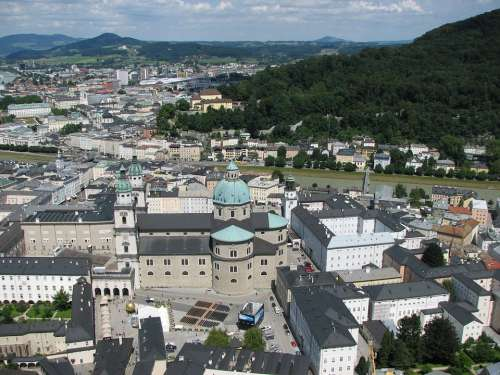 Salzburg City Austria Historic Center Dom