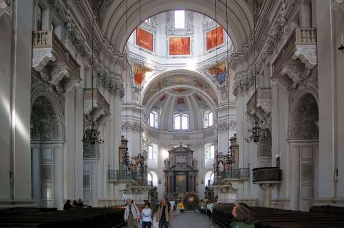 Salzburg Cathedral Church Nave Architecture