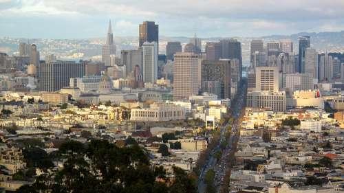 San Francisco Market Street Downtown California