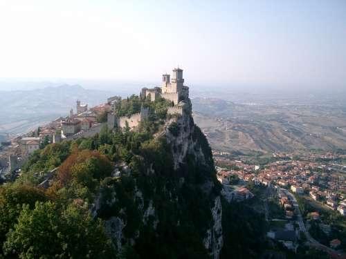 San Marino Italy City Mountain View Vision