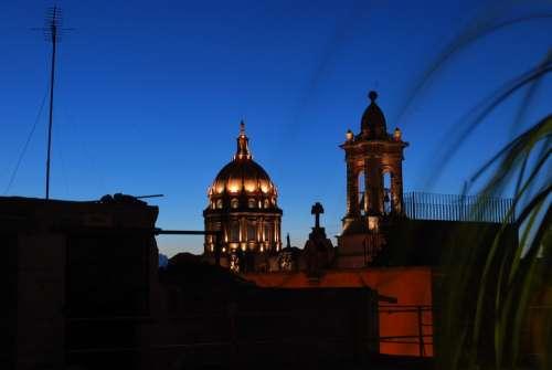San Miguel De Allende Mexico Church Skyline