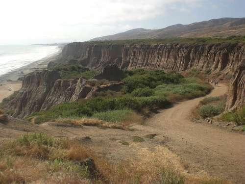 San Onofre California Ocean Cliffs