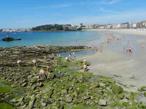 San Xenxo Beach Sea Sand Stones
