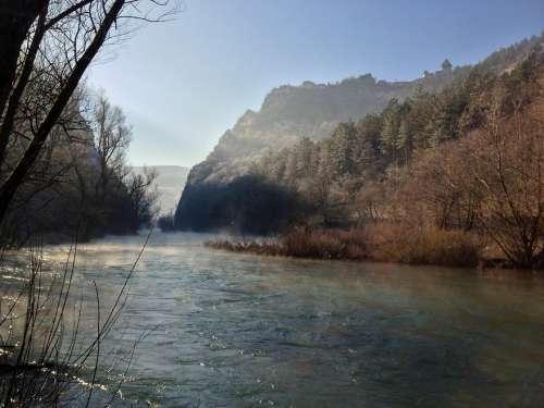 Sana River Water Bosnia Fog Haze