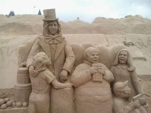 Sand Sand Sculpture Man Persons Sculpture