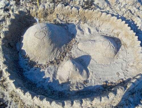 Sandcastle Sandy Beach Nåttarö Archipelago Smiley