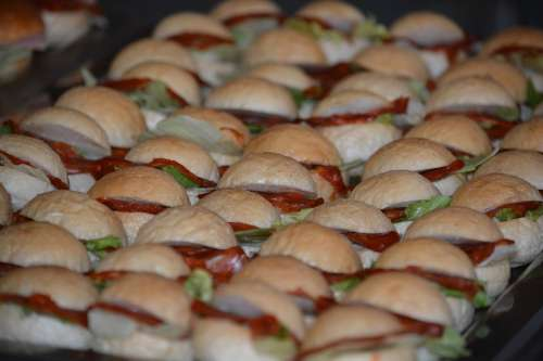 Sandwiches Miniature Food Food And Drink