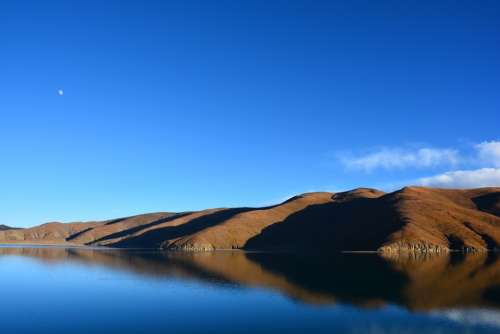 Sang Sang Wetlands Lake The Scenery Tibet