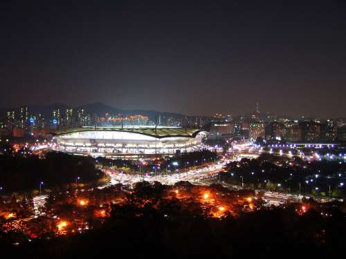 Sangam Stadium Korea Seoul Night View