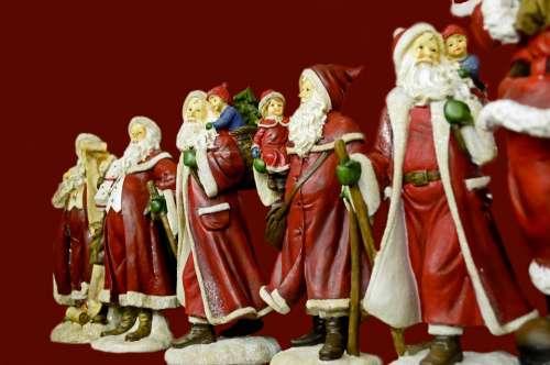 Santa Christmas Presents Family Joy Peace