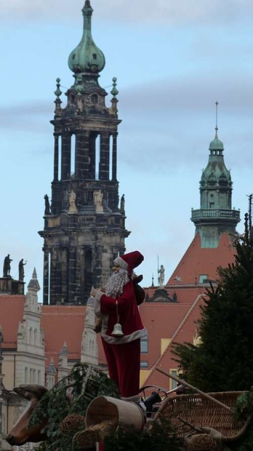 Santa Claus Atmosphere Christmas Advent Dresden