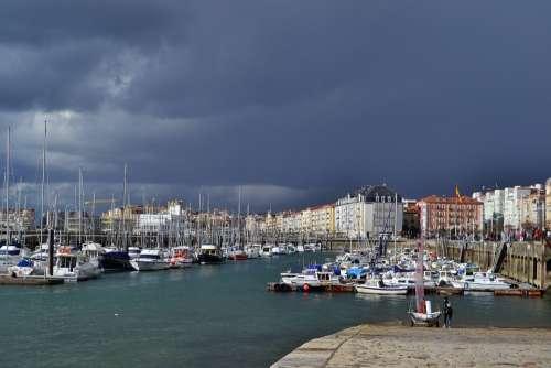 Santander Cantabria Harbor Port City Seaside