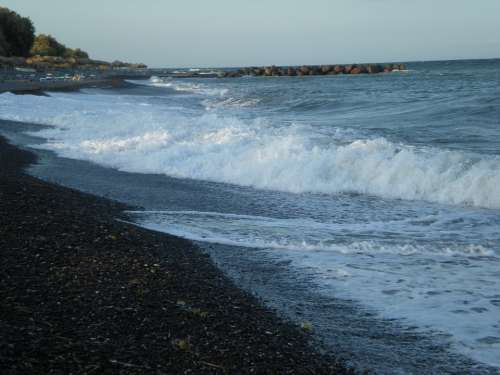 Santorini Greek Island Greece Marine Waves