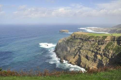 Sao Miguel Azores Coast Island Volcano Water