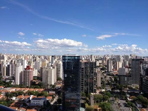 São Paulo City Vista Brazil Metropolis Landscape