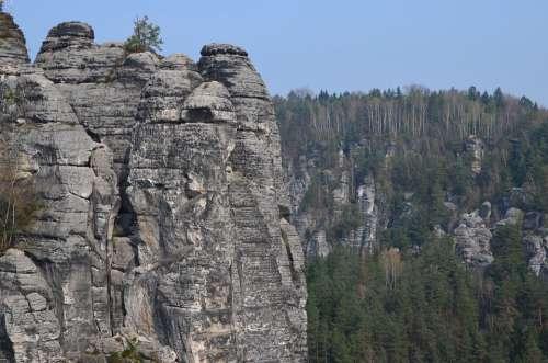 Saxon Switzerland Elbe Sandstone Mountains