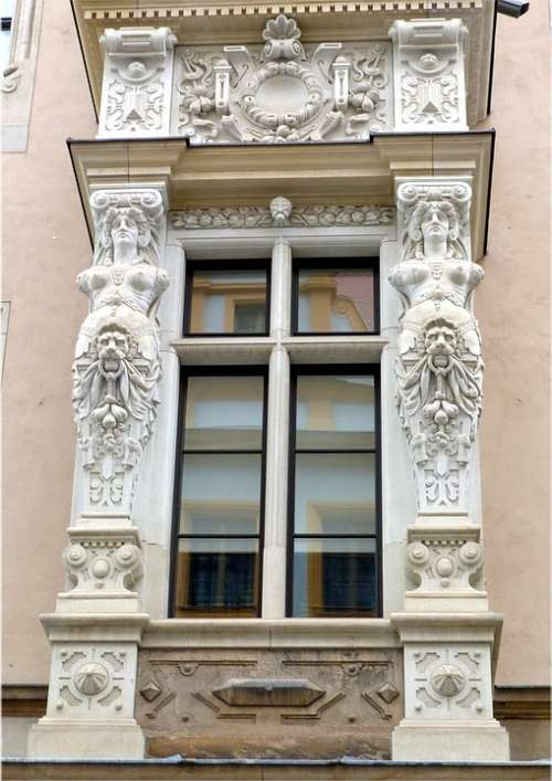 Saxony Dresden Window Ornaments Architecture