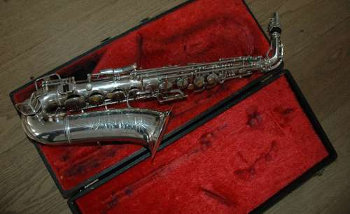 Saxophone Music Sax Silver Merry Jazz Suitcase