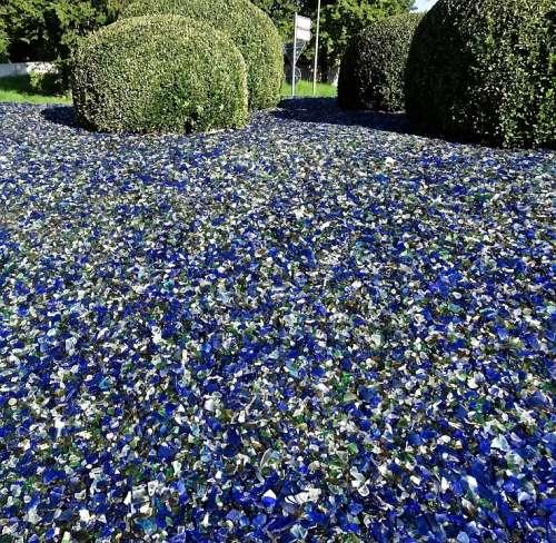 Scherbenmeer Glass Broken Glass Garden Green Blue