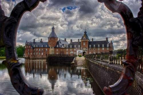 Schloss Anholt Castle Pond Mirror