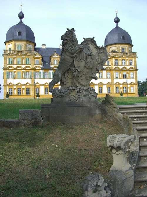 Schloss Seehof Memmelsdorf Park Lion Sculpture