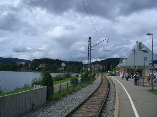 Schluchsee Platform Railway Station Rails