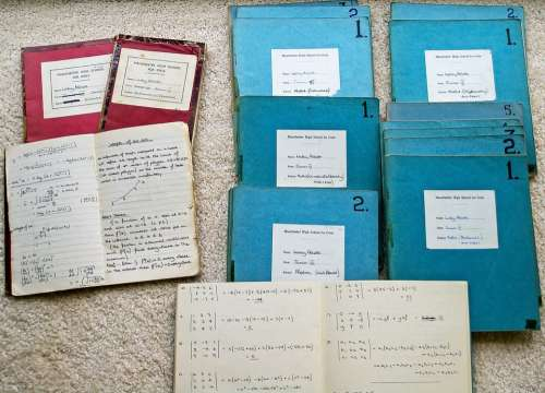 School Books Exercise Maths Education 1960S