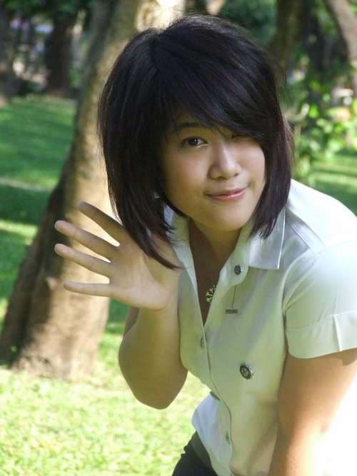 School Girl Asian Girl Woman Friendly Happy