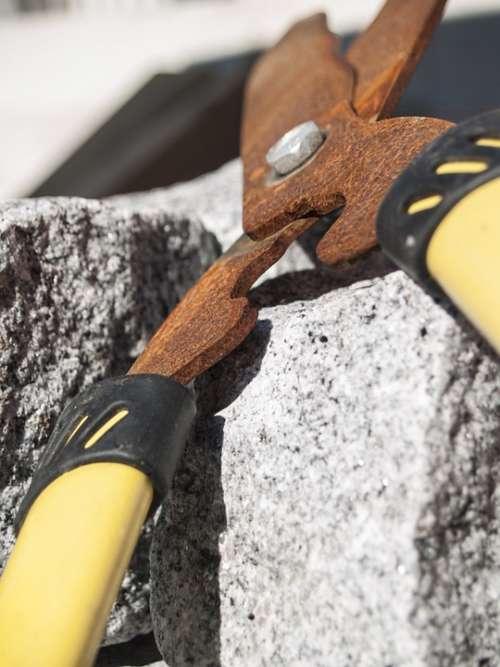 Scissors Shears Rust Tool Summer Stone Macro