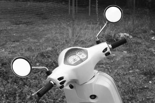 Scooter Front Vehicle Rear-View Mirrors Transport