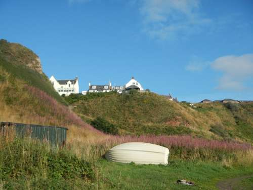 Scotland Landscape Coast Meadow Hill