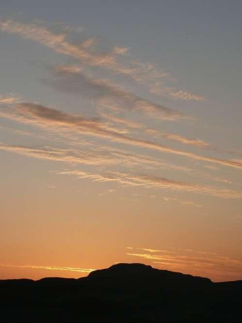 Scotland Mountains Sky Sunset Cloud Clouds