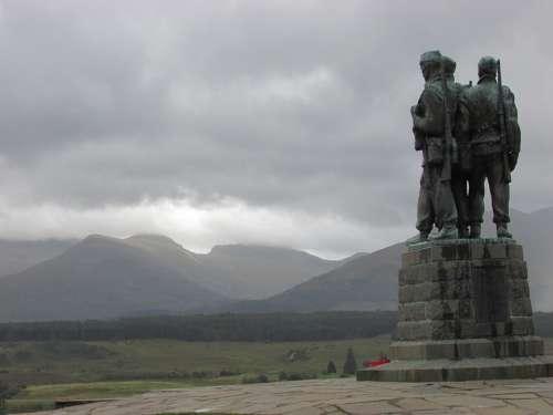 Scotland War Memorial Spean Bridge Memorial